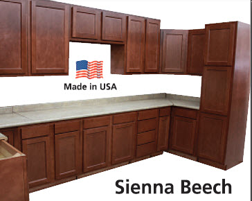 Beech kitchen cabinets in stock