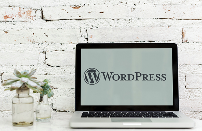 WordPress laptop