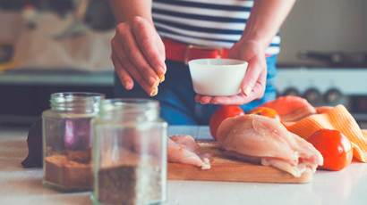 Woman making chicken dish-1.jpg