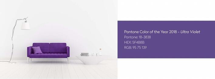 Pantone's 2018 Color of the Year: Ultraviolet