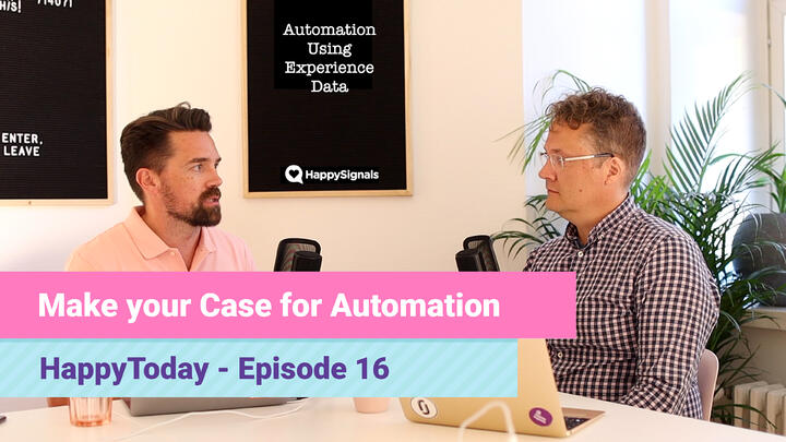 16. Make your Automation Case with Experience Data