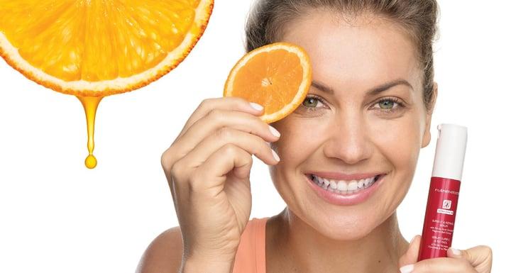 Retinol and Vitamin C target dark spots and wrinkles