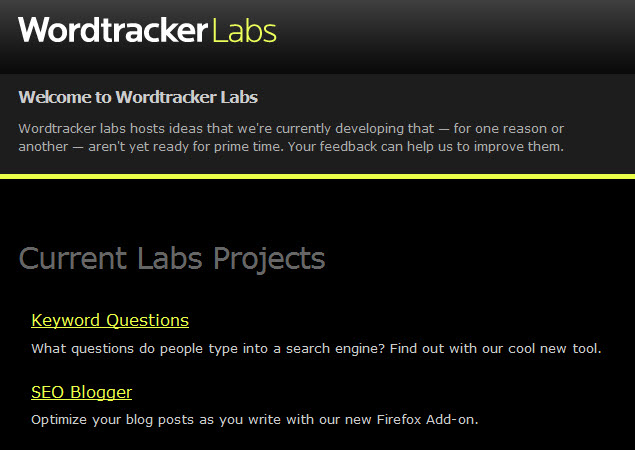 wordtracker labs
