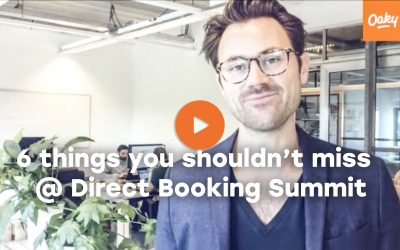 6 things you shouldn't miss @ Direct Booking Summit