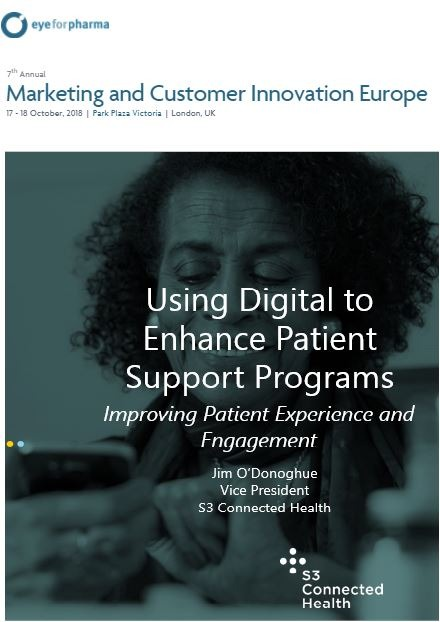Jim O' Donoghue- Using Digital to Enhance Patient Support Programs