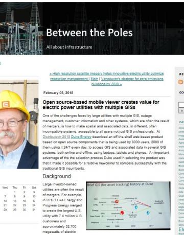 Between the Poles: Open source-based mobile viewer creates value for electric power utilities with multiple GISs