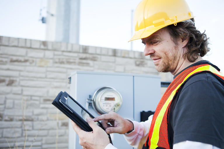 Worker with Tablet 1