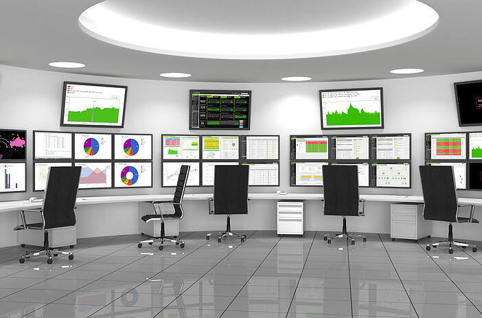 SCADA operations room