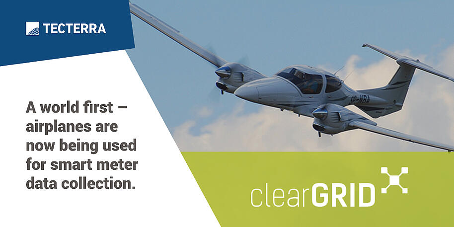 clearGRID: A world first – airplanes are now being used for smart meter data collection.