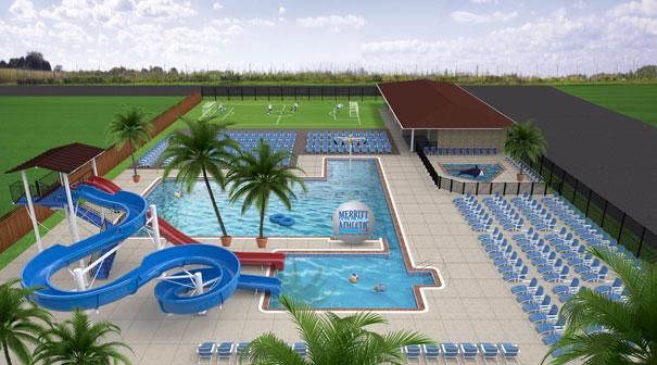 New Towson Outdoor Family Fun Pool