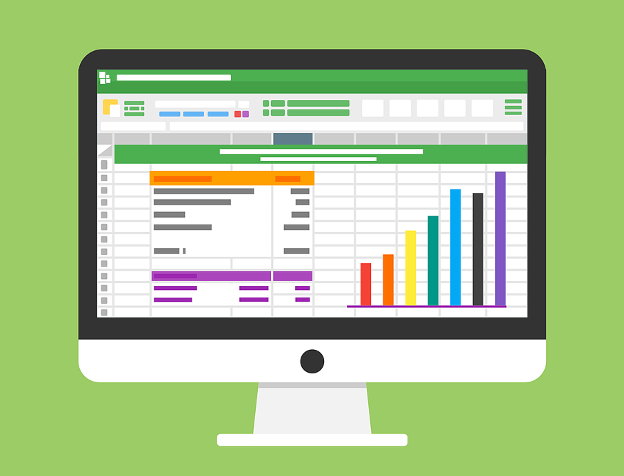 Data sheet with green background