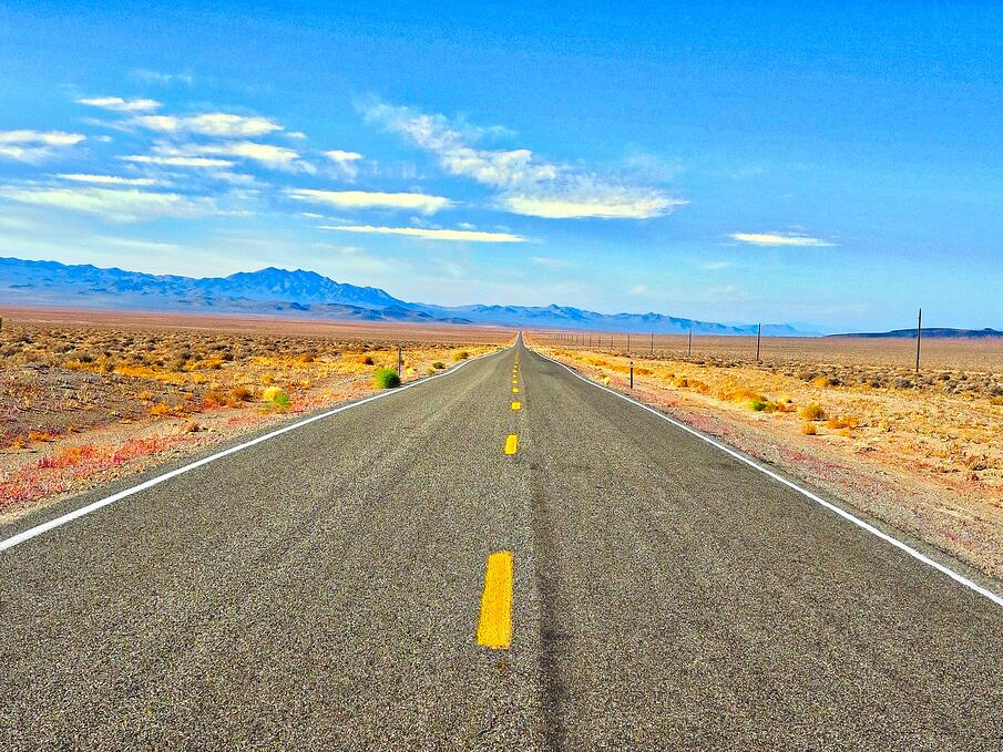 Summer desert highway