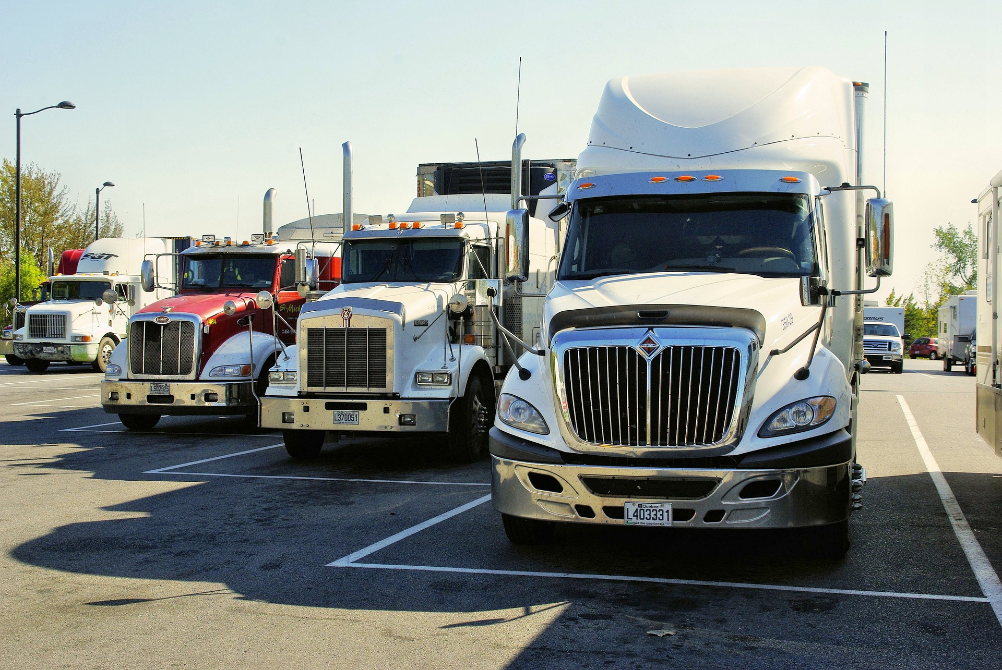 Trucks, rest stop