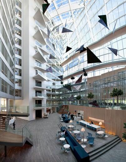 The Edge a smart building that utilizes sensors, image