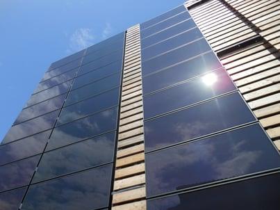 Photovoltaic building facade image