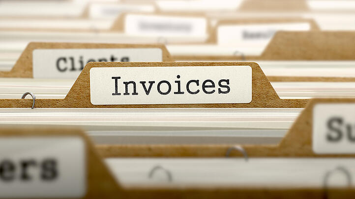 Invoices Concept. Word on Folder Register of Card Index. Selective Focus. (1)