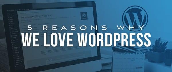 5 Reasons Why We ❤️ WordPress