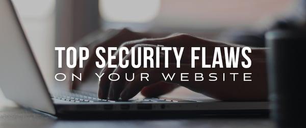 Top Website Security Flaws