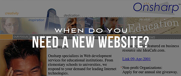 When Does Your Company Need A New Website?