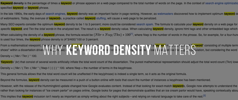 Why Keyword Density Matters