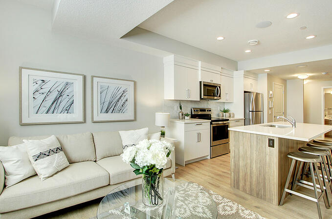 Secondary Suite in Cedarglen Homes Livingston Showhome