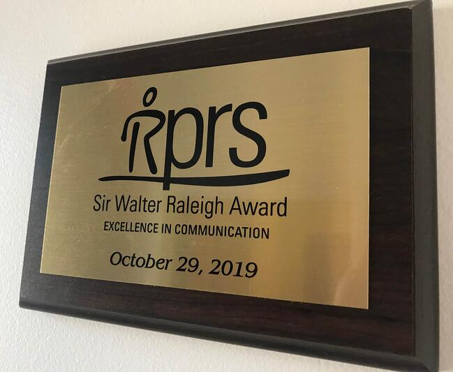 Benecomms Receives Gold at Sir Walter Raleigh Awards Ceremony for Excellence in Communication