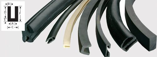 U channel extrusions extruded rubber shapes extruded - Guarnizioni adesive per finestre ...