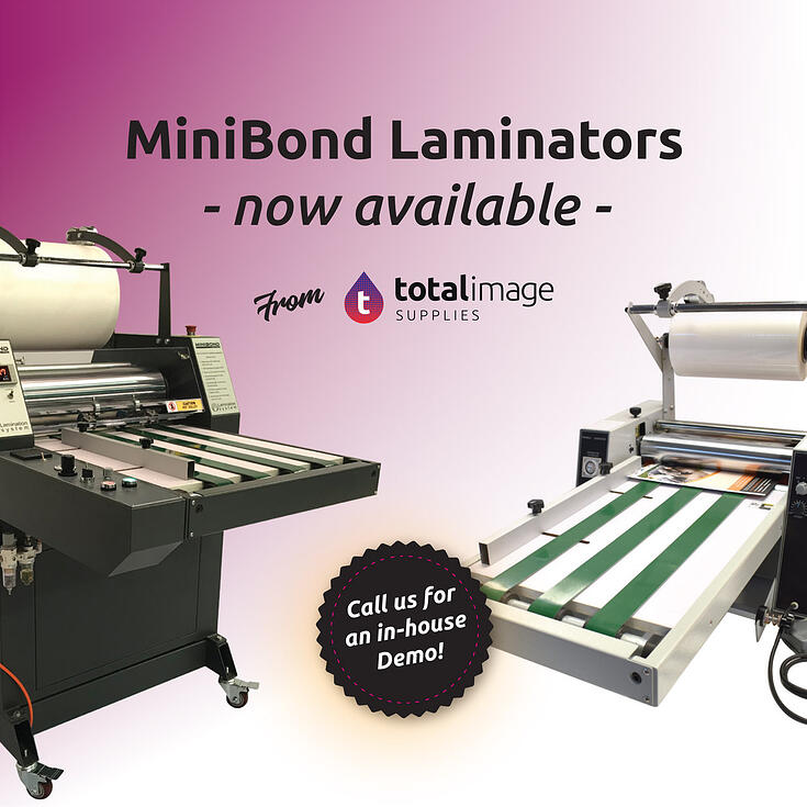 MiniBond Laminators now at Total Image Supplies