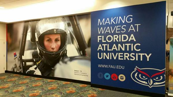 FAU Wall Wrap At Fort Lauderdale-Hollywood Airport
