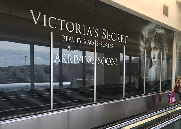 Victoria's Secret Barricade At PHL