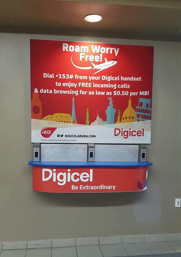 Digicel Wall Wraps In Aruba
