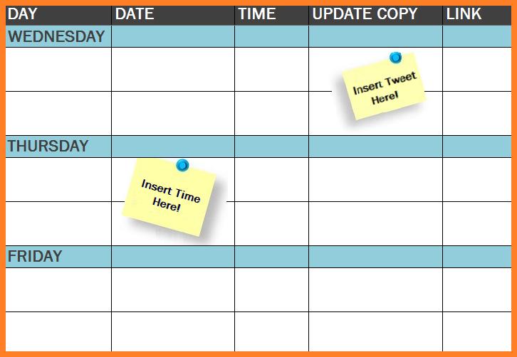 Social Media Posting Schedule Template Free from cdn2.hubspot.net