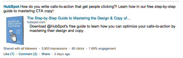 HubSpot on LinkedIn