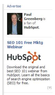 paul greenberg facebook ad hubspot