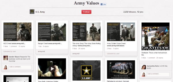 army values mission resized 600 28 Creative Pinboard Ideas From Real Brands on Pinterest