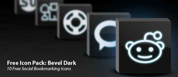 bevel dark icon set