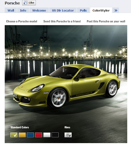 Porche Facebook Fan Page