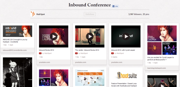 hubspot inbound conference resized 600 28 Creative Pinboard Ideas From Real Brands on Pinterest