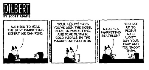 marketing cartoon