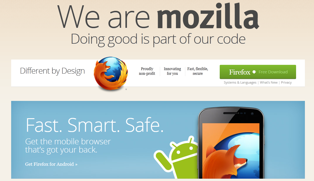 mozilla copywriting