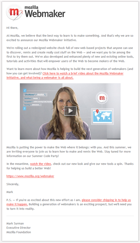 mozilla email marketing