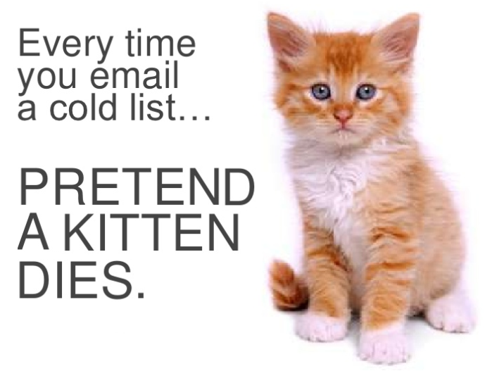never purchase email lists