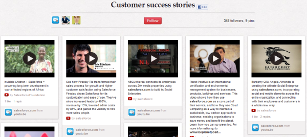 salesforce customer success stories resized 600 28 Creative Pinboard Ideas From Real Brands on Pinterest
