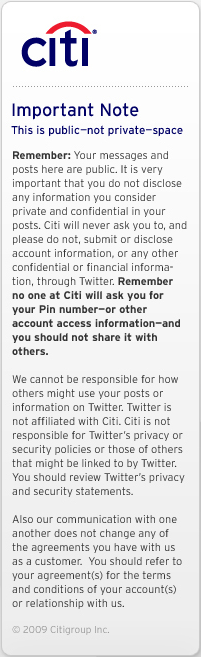 twitter citigroup