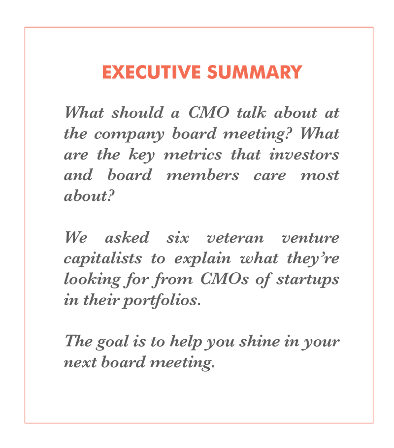Inside the Boardroom: A CMO's Guide to Impressing Investors
