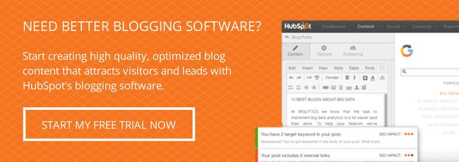 hubspot blogging trial