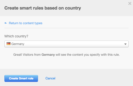 Show Personalized Website Content by Country