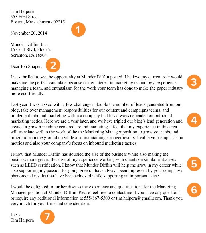 cover letter example greeting on a cover letter