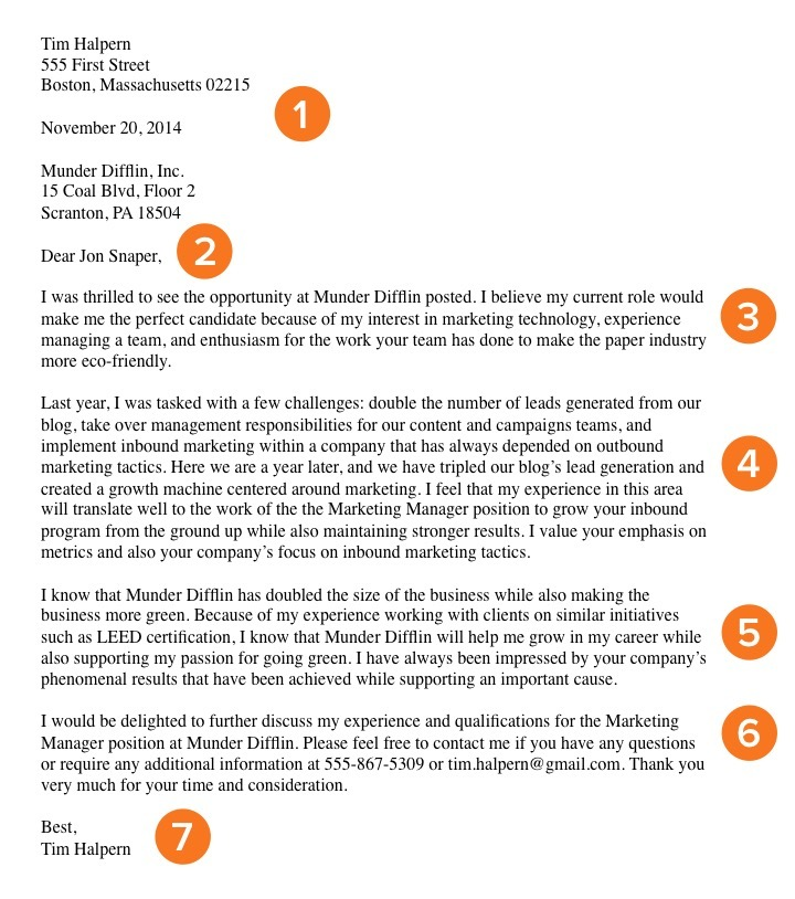cover letter job query - Great Job Cover Letters