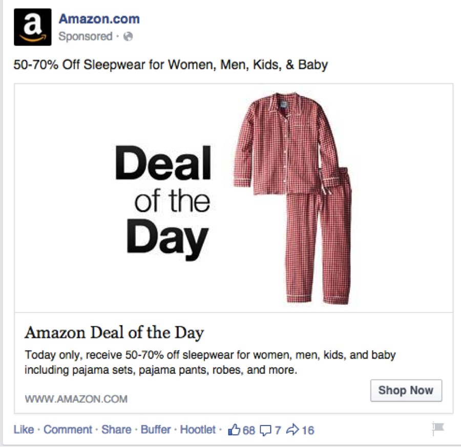 17 inspiring facebook ads to help get your prospects clicking this ad presents a single compelling deal with a deadline its clean and easy to understand it also has a button that makes it easy to shop the deal fandeluxe Choice Image